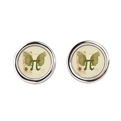 Winged Pi Round Cufflinks