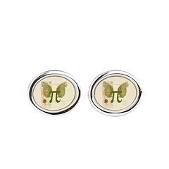 Winged Pi Oval Cufflinks