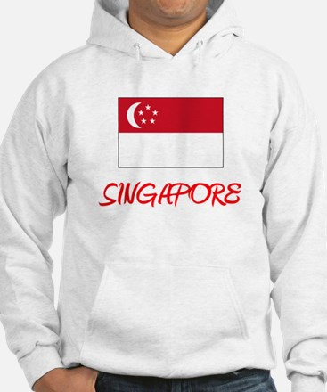 Singapore Flag Artistic Red Design Sweatshirt