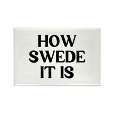 How Swede Rectangle Magnet