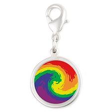 Rainbow Swirl Charms