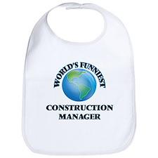 World's Funniest Construction Manager Bib