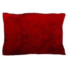 Red Satin Design Pillow Case