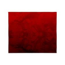 Red Satin Design Throw Blanket