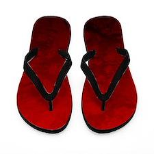 Red Satin Design Flip Flops