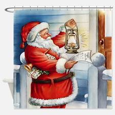 Vintage Santa 3 Shower Curtain