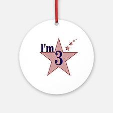 I'm 3 Boys Birthday Ornament (Round)