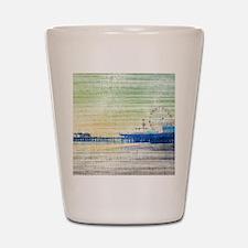Green Grey Canvas Pier Shot Glass