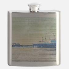 Green Grey Canvas Pier Flask