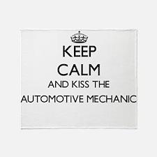 Keep calm and kiss the Automotive Me Throw Blanket