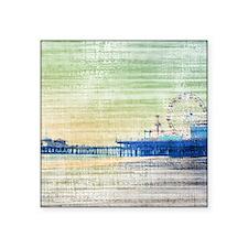Green Grey Canvas Pier Sticker