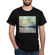 Green Grey Canvas Pier T-Shirt