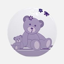 Purple Awareness Bears Ornament (Round)