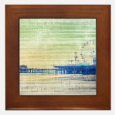 Green Grey Canvas Pier Framed Tile