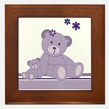 Purple Awareness Bears Framed Tile