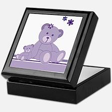 Purple Awareness Bears Keepsake Box
