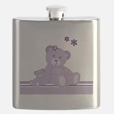 Purple Awareness Bears Flask