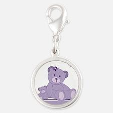 Purple Awareness Bears Charms