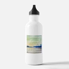 Green Grey Canvas Pier Water Bottle
