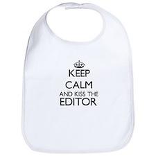 Keep calm and kiss the Editor Bib