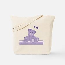 Purple Awareness Bears Tote Bag