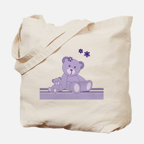 Purple Awareness Bears Tote Bag