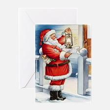 Vintage Santa 3 Greeting Cards