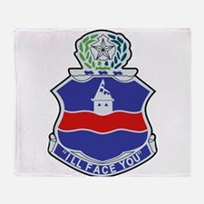142nd Infantry Regiment Patch.png Throw Blanket