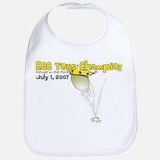 Egg Toss Champion Bib
