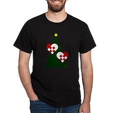 Christmas hearts T-Shirt