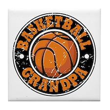 Basketball Grandpa Tile Coaster