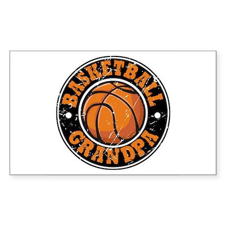 Basketball Grandpa Rectangle Sticker