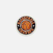 Basketball Grandpa Mini Button