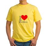I Love Pushkin Yellow T-Shirt