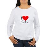 I Love Pushkin Women's Long Sleeve T-Shirt