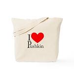 I Love Pushkin Tote Bag