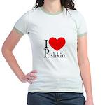 I Love Pushkin Jr. Ringer T-Shirt