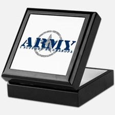 Army - I Support My Grandpa Keepsake Box