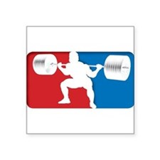 "Cute Bench press Square Sticker 3"" x 3"""