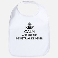 Keep calm and kiss the Industrial Designer Bib