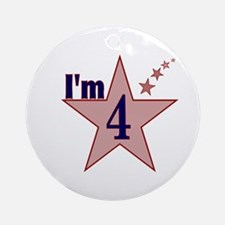 I'm 4 Boys Birthday Ornament (Round)