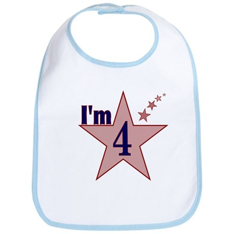I'm 4 Boys Birthday Bib