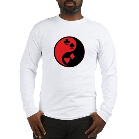 Yin Yang Cards Long Sleeve T-Shirt