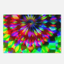 Rainbow Hippie Swirl Postcards (Package of 8)
