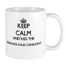 Keep calm and kiss the Insurance Sales Consul Mugs