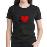 I Love Tolstoy Women's Dark T-Shirt