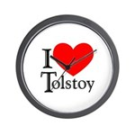 I Love Tolstoy Wall Clock