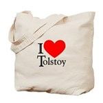 I Love Tolstoy Tote Bag