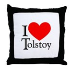 I Love Tolstoy Throw Pillow