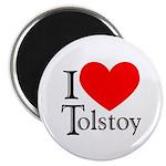 I Love Tolstoy Magnet